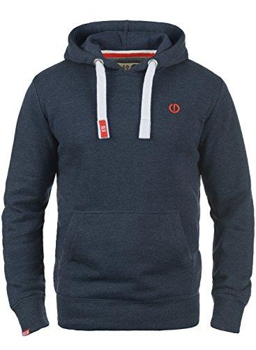 !Solid BennHood Herren Kapuzenpullover Hoodie Pullover Mit Kapuze Und Fleece-Innenseite, Größe:L, Farbe:Insignia Blue Melange (8991) -