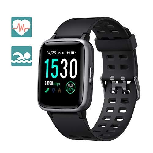 Arbily Smartwatch Fitness Armbanduhr Fitness Tracker für Damen Herren Kinder, Sportuhr mit Schrittzähler Pulsmesser Wasserdicht IP68 zum Schwimmen, Smart Watch für iOS Android Handy