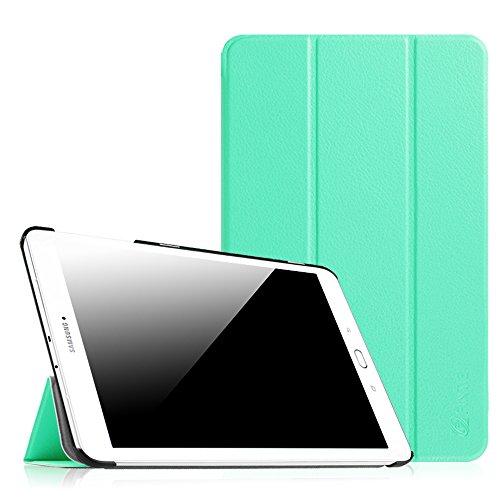 Fintie Samsung Galaxy Tab E 9.6 Hülle Case - Ultra Schlank Superleicht Ständer SlimShell Cover Schutzhülle Etui Tasche für Samsung Galaxy Tab E T560N / T561N 24,3 cm (9,6 Zoll) Tablet-PC, Mint Grün