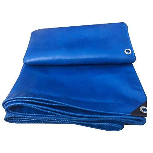 wasserdichte Heavy Duty Indoor staubdicht Balkon Sonnencreme Pergola Auto Abdeckung Metallschnalle PVC Regen Tuch (Farbe: Blau, Größe: 9,8x9,8ft) (Color : Blue, Size : 2.8x4.8m)