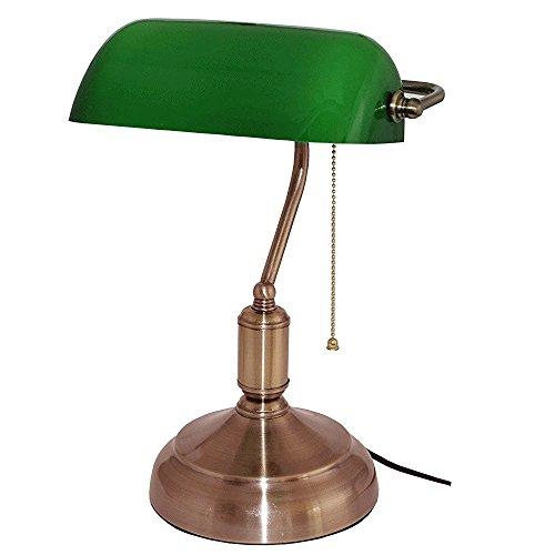 Lampada da Banca - verde Opaline - 38 cm - Catena