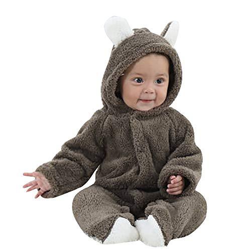 JiaMeng Neugeborenes Baby Jungen Mädchen mit Langen Ärmeln Warm halten Cartoon Hooded Strampler Overall Schneeoverall Kleinkind ()