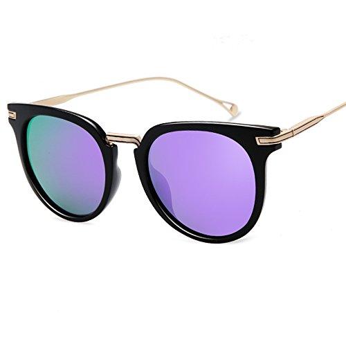 ZHIRONG Lunettes de soleil polarisées de plage de mode, protection solaire contre UV, voyage extérieur, lunettes de conduite, cadre en métal ( Couleur : 05 )