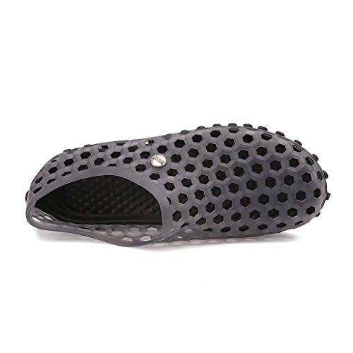 ZXCV Scarpe all'aperto Summer Hole Shoes Slippers Sandali traspiranti Sandali di grandi dimensioni Scarpe da spiaggia Scarpe da uomo Tide Grigio