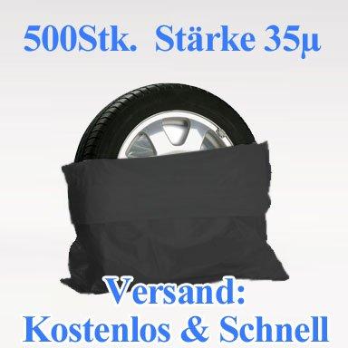 100 Reifensäcke,Reifensack weiß auf der Rolle dicke Qualität Profiware von Powerpreis24