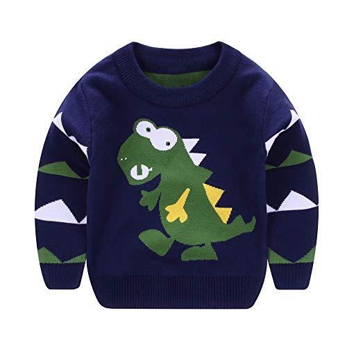 Kids Sweatshirt, 18M-5TQuaan Boys Girls Baby Long Sleeves Dinosaur Cartoons Sweaters Soft Warm Coats Knit Pull Over Cartoon Rabbit Flowers...