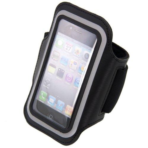 kwmobile Sport Armband für Apple iPhone SE / 5 / 5S - Jogging Lauf Sporttasche Fitnessband mit Schlüsselfach im Sportarmband in Schwarz