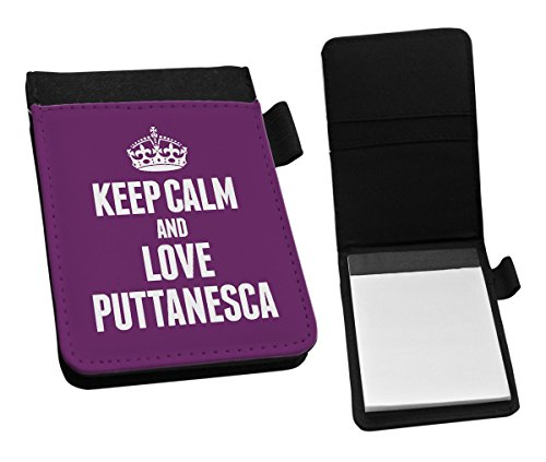 Duke Gifts PURPLE Keep Calm and Love Puttanesca Small Notepad 1431