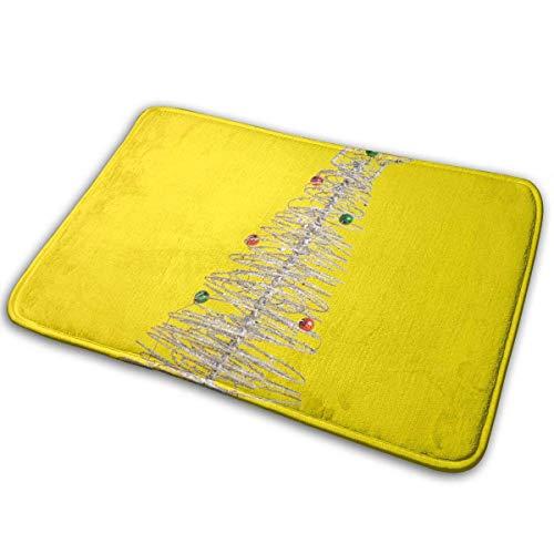 Bgejkos Felpudo Amarillo arbol Navidad tapetes alfombras