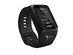 TomTom Spark 3 Multi Sport GPS Fitness Watch with Music and Bluetooth Headphones - Large Strap, Black