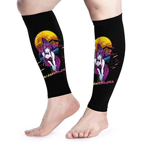 Zcfhike Calf Compression Sleeves Mai-Sakurajima-Bunny-Girl-Senpai Leg Support Socks for Women Men 1 Pair -
