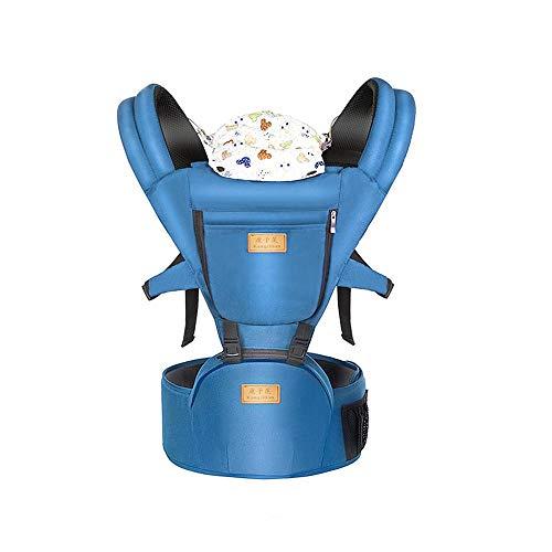 Newborn Baby Carrier Sling, Adjustable Hip Seat&Hood Kids Toddler Newborn Waist Hip Seat Wrap Belt Sling Backpack (Dunkelblau)