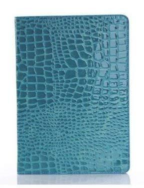 Neue iPad 24,6cm 20182017Fall, livitech Krokodil PU Leder Folio Smart Cover Schutzhülle Hard Cover Leichtes Wake Sleep für Apple iPad Retina Modell A1893A1954A1822A1823 Blau Blau (Ipad-coach Fall)