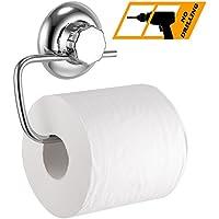 MaxHold Porta Carta Igienica - Nessuna perforazione / Sistema con Ventosa - Acciaio Inossidabile Nessuna Ruggine