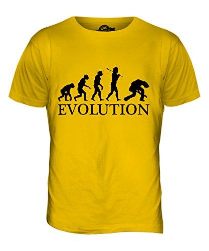 CandyMix Rock Gitarre Evolution Des Menschen Herren T Shirt Dunkelgelb