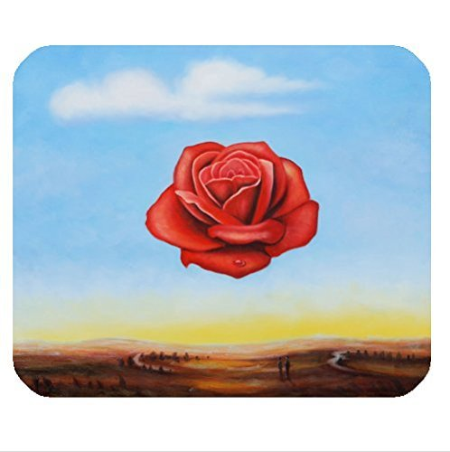 Custom classic salvador dali painting pattern cloth cover rectangle Mouse Pad 8.87 X 7.28 inch - Les Classic Paul Custom