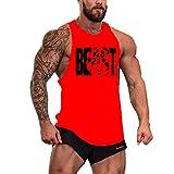 f4a7718f5057 Cabeen Uomo Beast Bodybuilding Canottiera Veste Senza Maniche Tank Tops  Stringer da Palestra