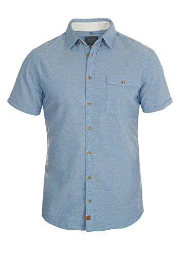 Blend Harry Herren Jeanshemd Denim Hemd mit Brusttasche und Button-Down-Kragen Regular Fit Aus 100% Baumwolle, Größe:XL, Farbe:Niagara Blue (74628) (Baumwolle Kurzarm-jeanshemd)