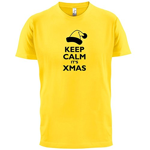 Keep Calm It's Xmas - Herren T-Shirt - 13 Farben Gelb