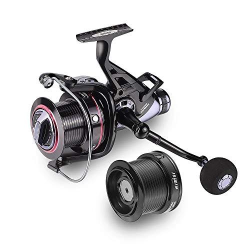 Hirisi Tackle Carp Fishing Reels Big Pit Baitrunner Double Brake 10+1 Ball Bearing Spinning Reel Hq8000