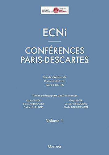 ECNi : Conférences Paris-Descartes Volume 1