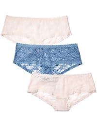 Iris & Lilly Damen Panties Soft Lace High, 3er Pack