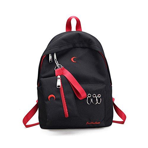 Spalle in nylon pacchetto coppie dual borse a tracolla e alla moda, zaino ,A D