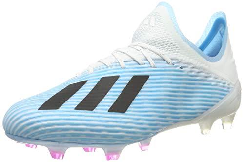 adidas Herren X 19.1 Fg Fußballschuhe, Blau Bright Cyan/Core Black/Shock Pink, 43 1/3 EU
