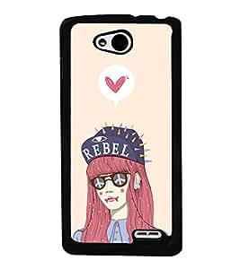 FUSON Rebel Love Girl Designer Back Case Cover for LG L90 :: LG L90 Dual