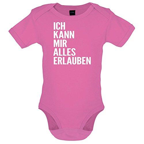 ICH KANN MIR ALLES ERLAUBEN - Lustiger Baby-Body - Bubble-Gum-Pink - 3 bis 6 Monate