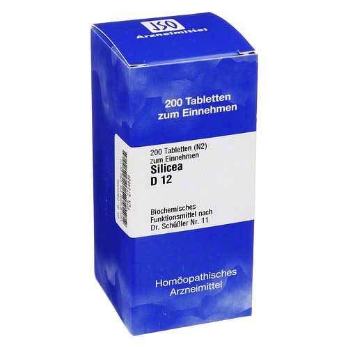 Homöopathische Zelle Salze (BIOCHEMIE 11 Silicea D 12 Tabletten 200 St Tabletten)