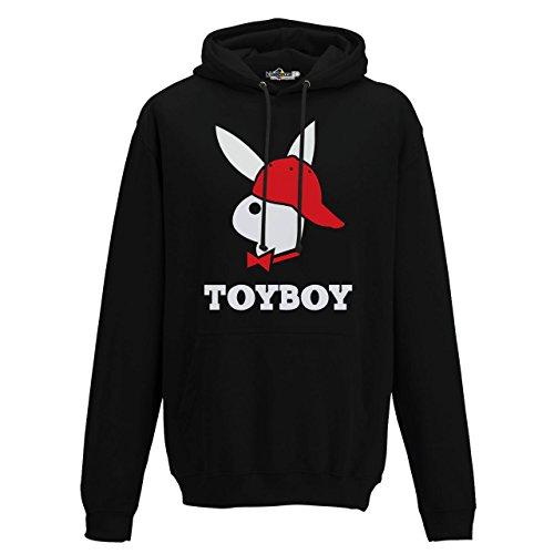 Felpa Cappuccio Toyboy Parodia Playboy Social Hip Hop 2 KiarenzaFD Streetwear Jet Black