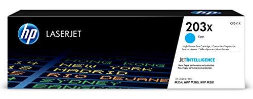 HP 203X (CF541X) Original Toner (mit hoher Reichweite für HP LaserJet Pro M254, HP LaserJet Pro M280, HP LaserJet Pro M281) blau -
