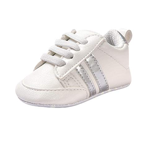 Zapatos de bebé Primeros Pasos Calzado Deportivo de Cuero Antideslizante Inferior Suave para niños...