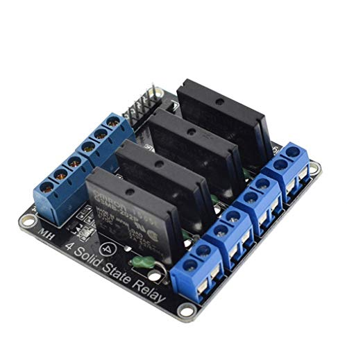 Lorsoul 5V DC Solid-State-Relais-Modul 1/2/4 Kanal Control Panel Module 240V 2A High Level/Low-Level-Trigger -