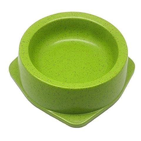 Hongxj Eco Bamboo Dog Bowl , L , Vert