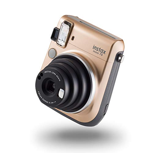 instax mini 70 camera with 10 shots, Stardust Gold
