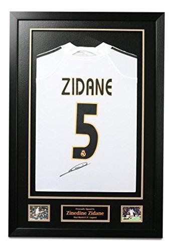 Zinedine-Zidane-Signed-Framed-Real-Madrid-5-Shirt-Autograph-Memorabilia-COA