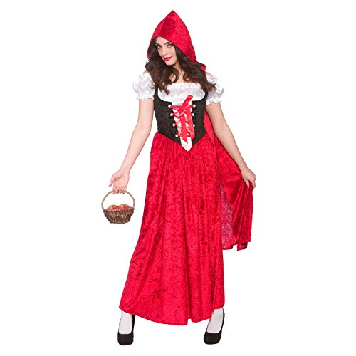 Deluxe Red Riding Hood Ladies Fancy Dress Costume Halloween