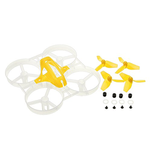 KINGDUO 40Mm Propellers 75 Mm Frame Kit Sets for Kingkong / Ldarc Tiny7 Small Scream Racing Quadcopter-Yellow