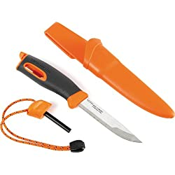 Light My Fire Swedish Fireknife Cuchillo con Pedernal, Unisex Adulto, Turquesa, M