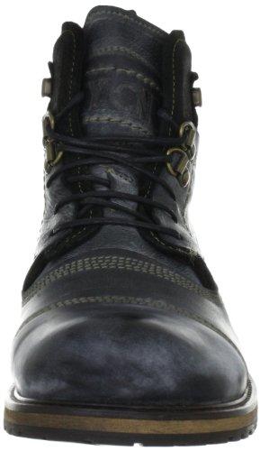 Yellow Cab Soldier Herren Biker Boots Schwarz (Black)
