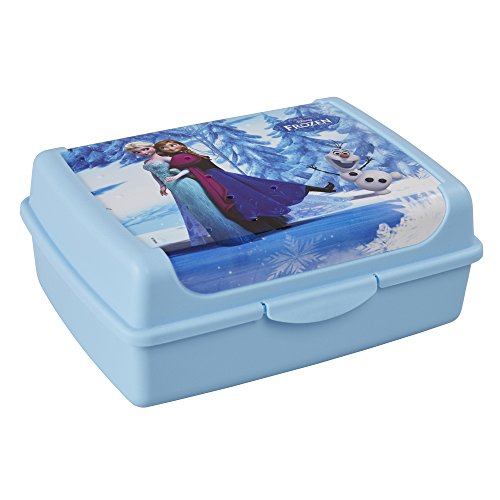 keeeper Disney Frozen Brotdose mit Klickverschluss, 17 x 13 x 7 cm, 1 l, Olek, Blau