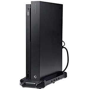 AmazonBasicsVertical Stand & USB 3.0 Hub for Xbox One X,Black