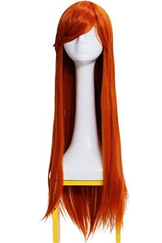 Dr. Jean Grey Perücke Wig Halloween Cosplay Kostüm Langes Glattes Haar Zubehör Hair Accessories (X Men Apocalypse Kostüm)