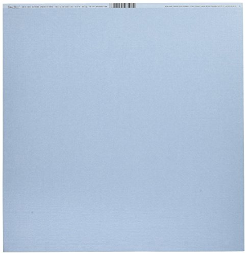 Bazzill Basics Papier für Scrapbooking, Blatt, Bling, Datum, Blau -