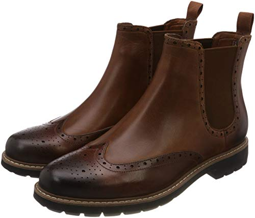 Clarks Herren Batcombe Top Chelsea Boots, Braun (Dark Tan Lea), 43 EU