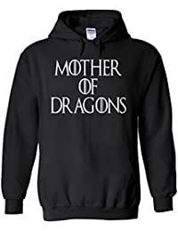 Mother of Dragons Maternity Twin Novelty White Femme Homme Men Women Unisex Sweat à Capuche Hooded Sweatshirt Hoodie