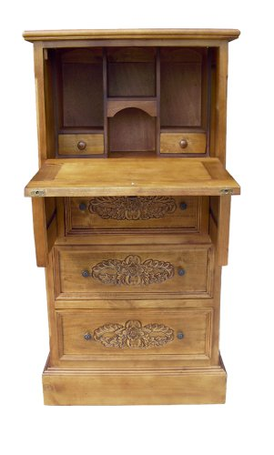 Compare Prices for French Furniture, Solid Wood Writing Bureau/ Writing Desk in Oak Finish, Shabby Chic Furniture Discount