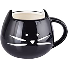 Rainbow Fox Kaffeetasse - Katze, Keramik, Schwarz
